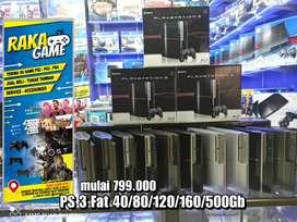 SONY PS 3 Fat 40+80+120+160+500gb Bergaransi Siap Antar COD