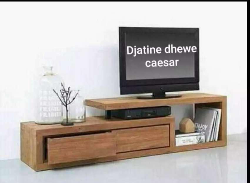 Meja tv tabarok as kayu jati 0