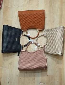 Leather look purse