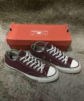 Sepatu Converse 70S Size 41 Maroon Original