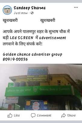 Led screen advertisement at palampur