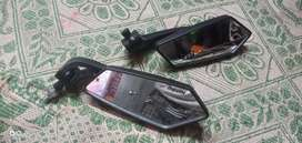 Custom side mirrors for all types of bikes