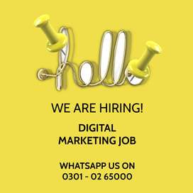 We are in search of marketing manager for/ digital marketing job,