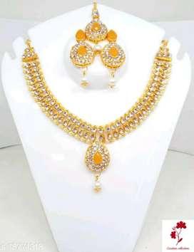 Kempu stone or Ruby jewellery Twinkling Fusion Jewellery Sets