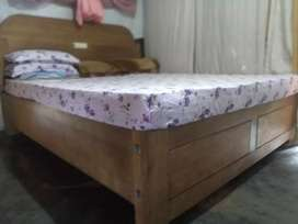 7 by 6 pure Burma  teak wood family bed call for more information