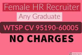 Female HR Recruiter, NO Charges, Wtsp 9519O-6OOO5