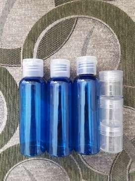 JUAL CEPAT BOTOL ISI ULANG 100ML warna biru