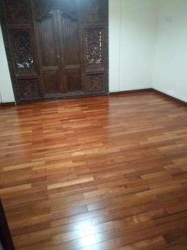 lantai kayu parket flooring kempas finishing uv coating lebar 7 ok