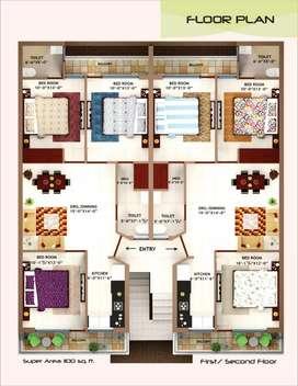 3 bedroom flat at kharar mobali near chandigarh university for sale