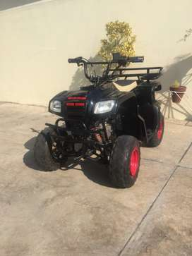 Black quad bike