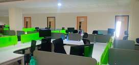 6000 sqft class space available with 100 work station with 7 cabins