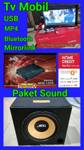 Paket Tv 7 in sistim android YouTube MP4 USB + sound audio mobil