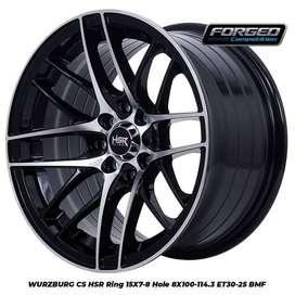 Velg Racing HSR Ring 15x7/8 Black Polish