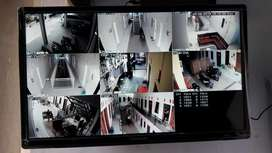 Paket 4 cctv FULL HD murah, bisa pantau via HP, anti air garansi 3th