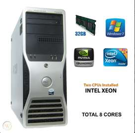 Dell T5000 Series 6Ghz Octa8 Core 24Mb Cach 32GB RAM
