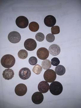 Very rare collection of 25 old coins(includes 1000yr old chola coin)