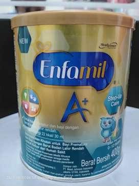 Susu Formula Enfamil A+ 400g , susu bayi prematur