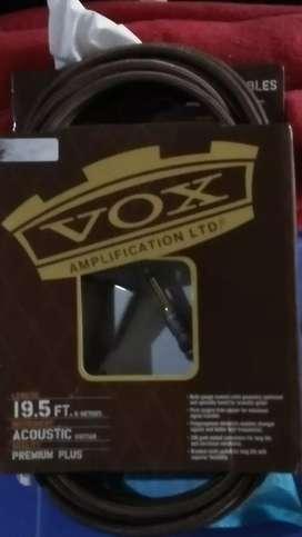 Kabel jack acoustic merk VOX 19.5 feet/6 meter