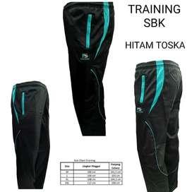 Celana Training Running GymFitness Frasser Sbk Hitam Toska - M