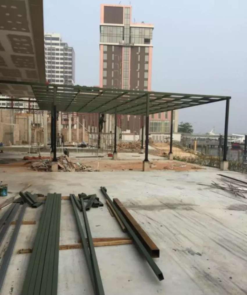 "Bengkel kanopi kaca dan canopy minimalis ""4981"