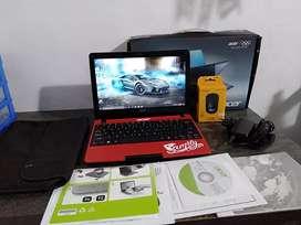 Dijual notebook Acer Aspire one 722 amd c60 normal jaya fullset