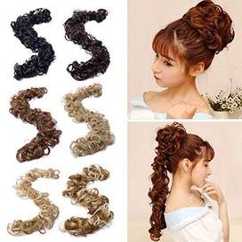 Combs Chignon Messy Curly Hair Bun Extension