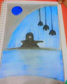 Painting God Shiva