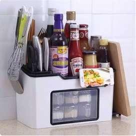 Rak Bumbu Dapur Kitchen Shelf Rak Dapur Multifungsi 6 IN 1 dengan Laci