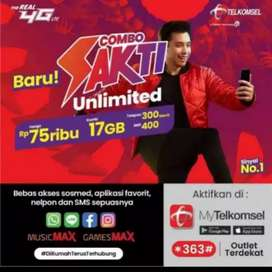 Perdana telkomsel sakti 15gb/30hr dan 17gb/30hr 75rb