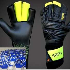 Football Latex Goalkeeper Goalie Gloves Soccer Cool Black Gold Flat Fi