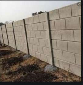 land covering boundary  wall and sheds