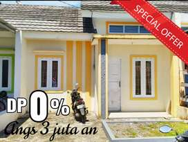 Rumah DP 0% SIAP HUNI dekat pasar Grosir Daya, jl Parumpa.BEBAS BANJIR