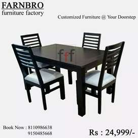 dinning table with 6 chairs exclusive sale