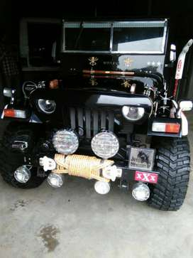 Toyota3c willys jeep with angry gril