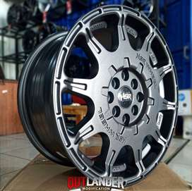 Velg racing Mazda 2 , Ayla , Agya ring 16 tipe WRX warna hitam