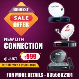 Airtel Tata Sky DishTV HD Connection Sale Price + same day delivery!