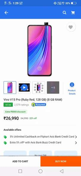 V15pro 8gb ram Blue color