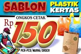 SABLON PLASTIK Rp150,-pcs