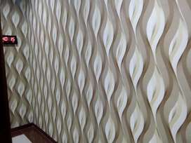 Wallpaper vynil dinding berserat timbul
