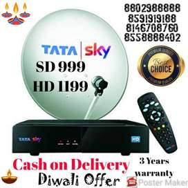 Airtel And Tata Sky Digital New T.V. Connection