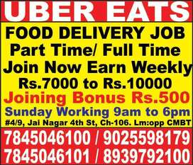 UBER EATS wanted delivery executive across Chennai