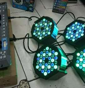 Sewaan Rental lampu sorot lighting parled + laser