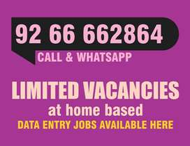 Simple Data Entry Work-Part Time/Home Base Job-Contact Now