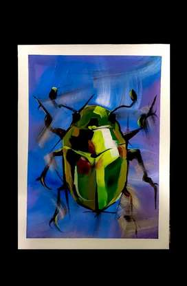 Bug surrial acrylic painting