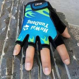 Hiba Trendy Mens Printed Sports Gloves