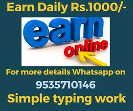 Work daily 2 to 3 hrs and earn daily Rs.1000/-. Apply now