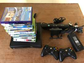 Xbox 360 (256 GB) slim with connect and accessories