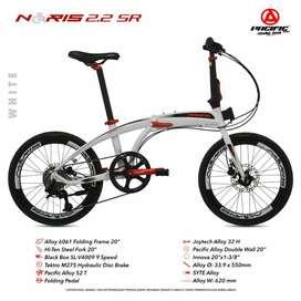 Sepeda lipat Pacific Noris 2.2 SR new 9 speed hidrolik
