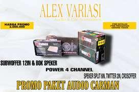 Paket Audio Carman 2jt . Alex variasi palembang
