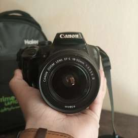 Canon 1000D DSLR with Canon zoom lens 18-55 mm